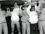 Krafttraining (v.l.n.r.): Franz Helfenschneider, Gerald Slazik, Bernhard Höll, Sabine Stelzmüller, Rudolf Loidl.