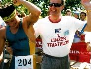 Wolfgang Kattnig, bester Österreicher beim 1. Linzer Triathlon (2. Platz) und später drittplatzierter bei der Triathlon-EM.