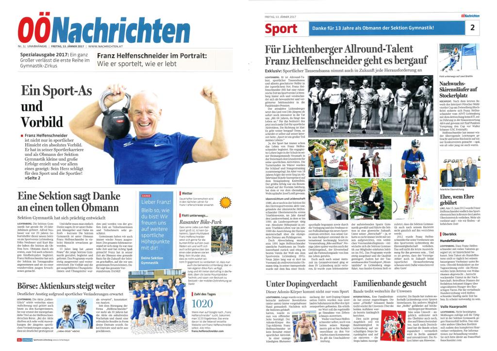 OÖ Nachrichten Spezial Franz Helfenschneider (Einzelausgabe)